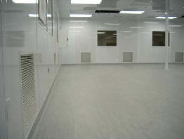 flash coved esd cleanroom flooring, installation site Silicon Valley California