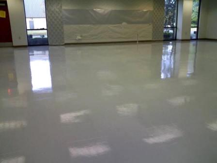 White Metallic Epoxy Floor