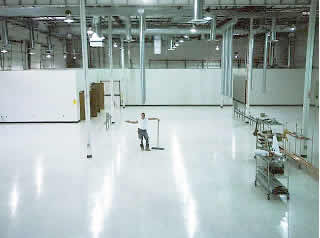 static control floor finish for standard tile